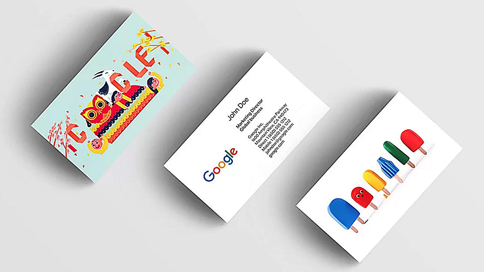 Biglietto da visita digitale di google