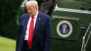Donald Trump arriva alla Casa Bianca su Marine One dopo un fine settimana a Camp David